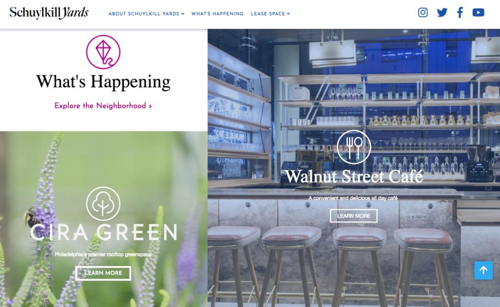 Schuylkill Yards Website
